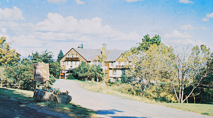 An origial photo of the Steele Hill Inn circa 1950